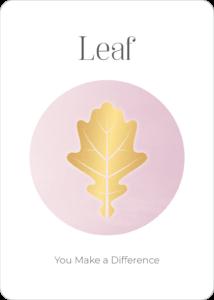 Peace Symbol Oracle Card Leaf