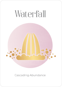 Peace Symbol Oracle Card Waterfall
