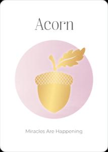 Peace Symbol Oracle Card Acorn