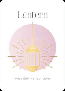 Peace Symbol Oracle Card Lantern