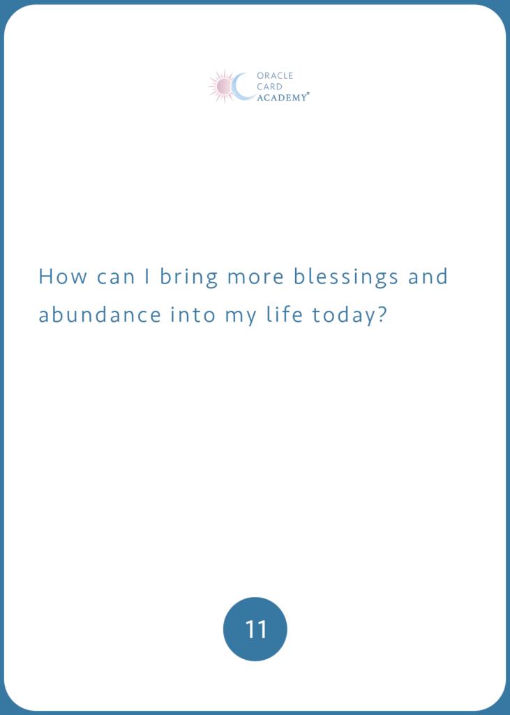 Positive YOU Blesings Abundance Question Card